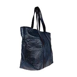 Vintage Reign 'Nomi' Blue Leather Tote Handbag
