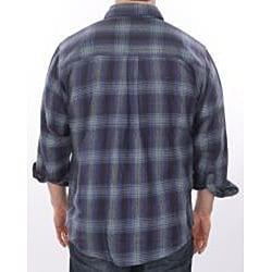 Farmall IH Men's 'Brawny' Navy Plaid Flannel Shirt
