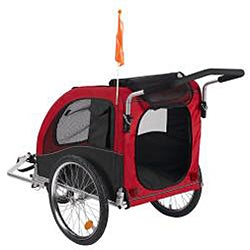 Merske ' Large' Red Comfy Dog Bike Trailer/ Stroller Kit