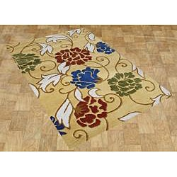 Hand-tufted Honey Gold Wool Rug (8' x 10')