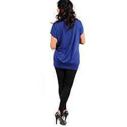 Stanzino Women's Plus Size Purple Crocheted Top
