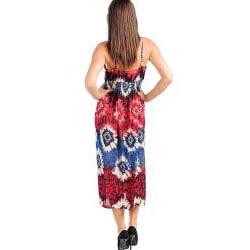 Stanzino Women's Plus Size Wine/ Navy Summer Dress