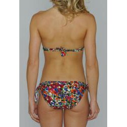 Island World Juniors 'Color Paint Floral' Halter and Keyhole Bottom Bikini