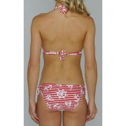 Island World Juniors 'Red Nautical' Halter and Keyhole Bottom Bikini
