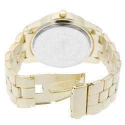 Geneva Platinum Chronograph-style Link Watch