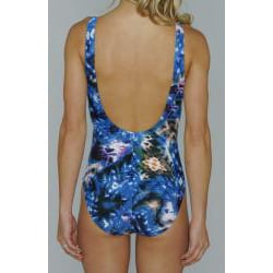 Island Love Women's 1-Piece Swimsuit in Blue Tye Dye
