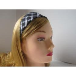 Black and White Diagonal Stripe Headband