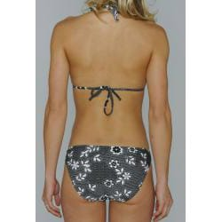 Island Love Women's Black and White Lace Floral Bikini