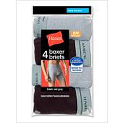 Hanes Assorted-color Cotton Boxer Briefs (Value Pack of Four)
