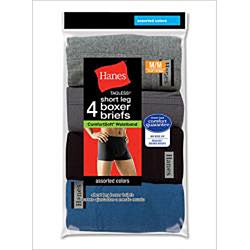 Hanes Men's Cotton ComfortSoft Waistband Trunks (Pack of 4)