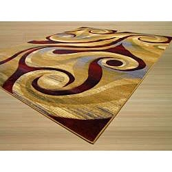 Hand-carved Abstract Tribal Design Rug (7'10 x 9'10)