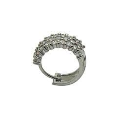 Sterling Silver Clear Cubic Zirconia Cuff Earrings