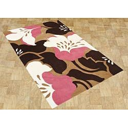 Hand-made Sabrina Biscuit New Zealand Wool Rug (8' x 10')