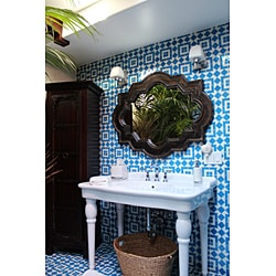 Granada Tile Echo Collection Fez A Blue and White Cement Sample Tile