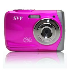 SVP WP6800 18MP Pink Waterproof Camera with 8GB Micro SD