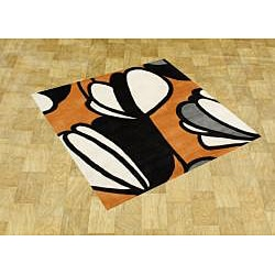 Hand-tufted Metro Soft Orange Wool Rug (6' Square)