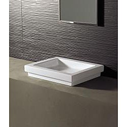 Bissonnet Logic-50 Ceramic Bathroom Vessel Sink