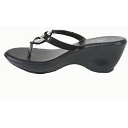 Bolaro by Beston Women's Black Thong Sandals