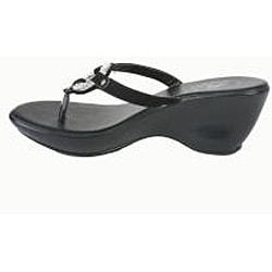 Bolaro by Beston Women's Black Thong Sandals
