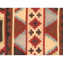 Hand-woven Keisari Kilim II Cream Wool Rug (4'8 x 6'8)