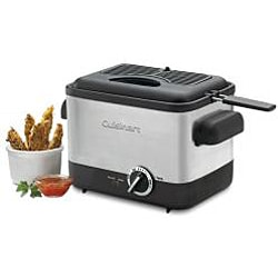 Cuisinart CDF-100 Compact Brushed Stainless Steel Deep Fryer