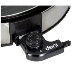 Deni Non-Stick 14-inch Round Grill with Removable Plate and Lid (Refurbished)