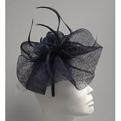 Navy Elegant Synamay Cocktail Fascinator