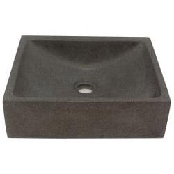 Half Moon Concrete Grey Vessel Bathroom Sink