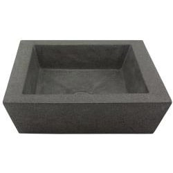 Square Incline Concrete Grey Vessel Bathroom Sink