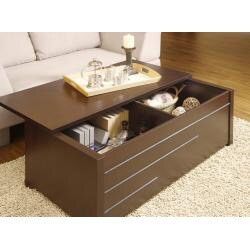 Max Modern Dark Espresso Hidden Storage Coffee Table