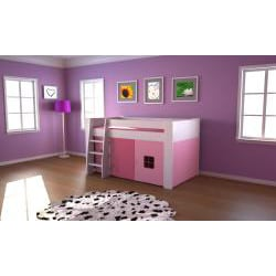 Popsicle White Midsleeper Bed
