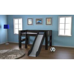 Popsicle Espresso Midsleeper with Slide Bed