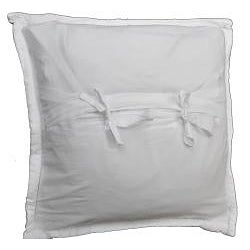 Cottage Home Simple White Stitched Pillow