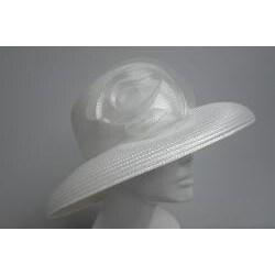 Swan Women's White P.P. Braided Floppy Bucket Hat