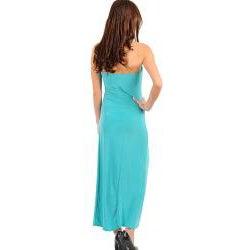 Stanzino Women's Light Jade Strapless Dress with Stone Embellished Chest