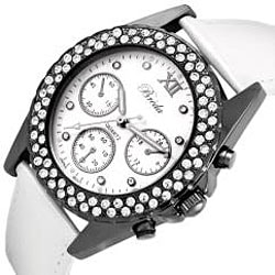 Breda Women's 'Victoria' Leather Watch