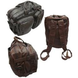 Amerileather 'Gabe' Leather Convertible Backpack/Briefcase
