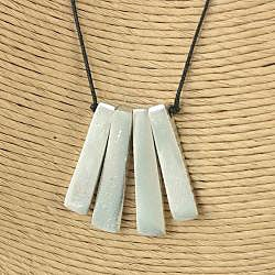 Handcrafted Silvertone Metal Bars 'Purity' Linen Cord Necklace (India)