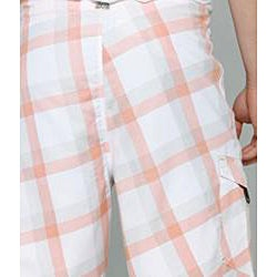 Zonal Men's 'Content' White Plaid Boardshorts