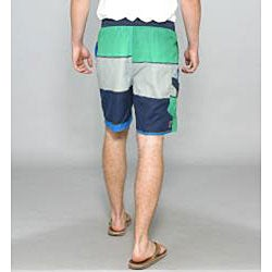 Zonal Men's 'Transporter E-board' Navy Swim Shorts