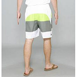 Zonal Men's 'Word E-Board' Green/ Grey Swim Shorts