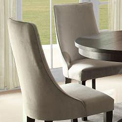 Alburn Grey Taupe Velvet Upholstered Dining Accent Chair (Set of 2)
