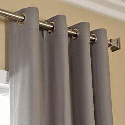 Cotenza Steel Grey Faux Cotton Grommet Curtain Panel