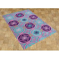 Me & Mom Hand-tufted Scuba Blue Wool Rug (5' x 8')