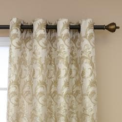 Metallic Vine Grommet 84-inch Curtain Panel Pair