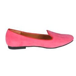 Refresh by Beston Women's 'Belin-03' Peach Suede Flats