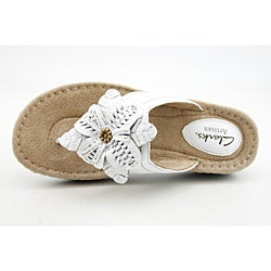 Clarks Artisan Women's Latin Palm White Sandals