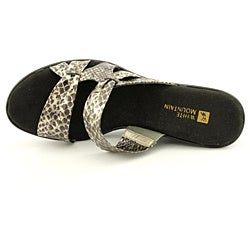 White Mountain Women's Origami Gold Sandals