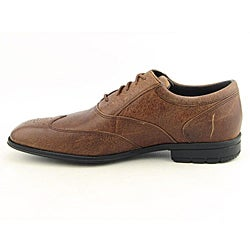 Rockport Men's Hillandale Brown Dress Shoes Wide