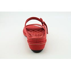 Softwalk Women's Lago Red Sandals Narrow